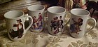 Set of 4 Norman Rockwell mugs cups by PMC