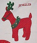 Uncut fabric sewing craft panel Jingles the Reindeer