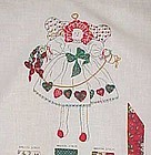 Uncut fabric sewing panel Calico angel doll