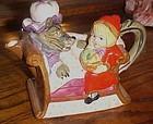 Little Red Riding Hood ceramic figural teapot