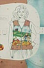 Uncut preprinted sewing craft panel Fall vest sm-med-lg