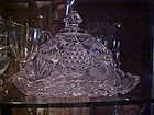 EAPG Illinois square butter dish by US Glass 1897