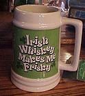 Large Irish tankard Irish Whiskey makes me Frisky