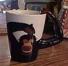 Chimp monkey mug by World Market