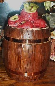 Metlox barrel of apples cookie jar