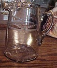 Antique cut floral water pitcher Crystal Glass Co 1860s