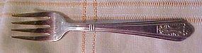 Royal Saxony silver plate salad fork 1935