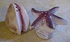 Vintage starfish and clamshell salt and pepper shakers