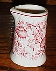 "Syracuse Red Roxbury 3.5"" creamer Railroad China"