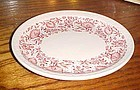 Syracuse Red Roxbury 9 3/4 oval  platter Railroad china