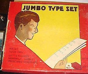 Vintage 1930s Jumbo Type Set in original game box