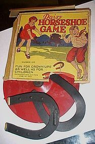 Vintage 1927 Daisy Horseshoe game Schacht Rubber Co