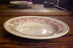 "Syracuse Red Roxbury 9"" rim soup bowls Kansas Railroad"