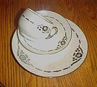 Antique Hermann OHME Germany lustre cup saucer plate