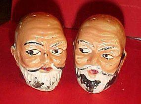 Vintage bald man salt and pepper shakers Japan