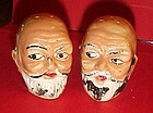 Vintage bald man salt and pepper shakers Japan