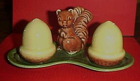 Vintage squirrel and acorn salt and pepper shakers