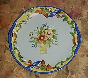 Lovely old Noritake flower basket plate Deco