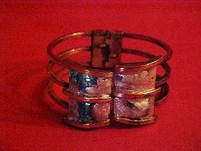 Matisse Renoir copper & Enamel Polaris hinged bracelet