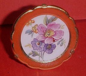 "Miniature Limoges France 1.75""  floral plate w/stand"