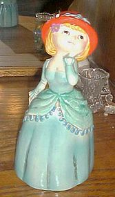 Vintage 1960's paper Mache composite lady bank JAPAN