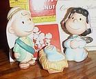 "Hallmark Peanuts ""The Holy Family""  figurines MIB"