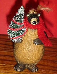 Montana Lifestyles Bear  with tree Christmas ornament