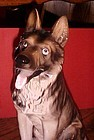 "Vintage 11"" German Shepherd figurine correct male parts"