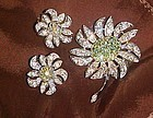 Vintage Sarah Coventry Mountain Flower Pin and earrings