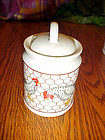 Takahashi Chickens n wire pattern  porcelain sugar bowl