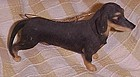 Realistic Black & tan Male Dachshund dog ornament