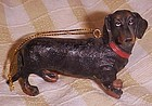 Resin Dachshund  dog figural tree ornament