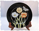 Fitz & Floyd Midnight Poppy salad plate RARE 1976