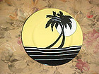 Fitz & Floyd Palm Beach yellow and black salad plate