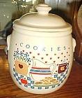 Treasure Craft milk and cookies home kitchen cookie jar