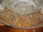 EAPG Slewed Horseshoe Radiant Daisy Punch bowl set