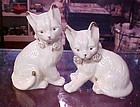 Pair of ivory and gold cats Lenox look by Formalities