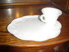 Indiana Colony Harvest milk glass snack tray and cup