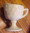 Indiana Glass Harvest milk glass footed creamer