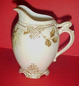 Antique Silesia Old Ivory Clarion creamer BEAUTIFUL