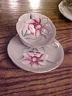 Vintage Japan hand painted Orchid cup and saucer set
