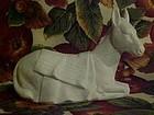 Vintage Avon white bisque porcelain nativity donkey