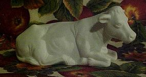 Vintage Avon white bisque Nativity cow or ox figure