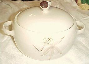 Winfield China Passion Flower  round covered casserole Mid Century