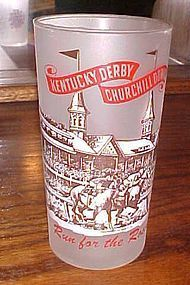 1965 Kentucky Derby mint julep drinking glass Run for the Roses
