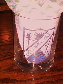 Vintage  Blue Skies Country Club golf course old fashioned glass