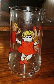 1984 Cabbage Patch kids collectible glass 12 oz tumbler