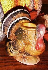 Vintage Norcrest single turkey candle holder Thanksgiving decor