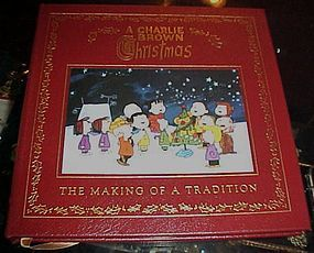 A Charlie Brown Christmas First edition leather bound gold leaf book
