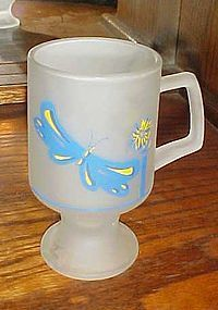 Vintage Tiara frosted butterfly mug 1984